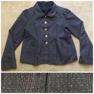 ✨ Tweed Blazer Jacket Metallic Sparkle Work Plaid